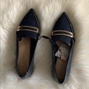 Zara patent leather and suede flats